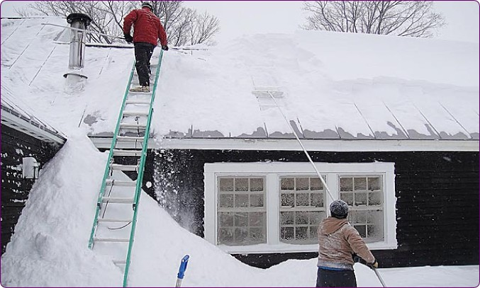 Charming Claremont Nh Roof Shoveling